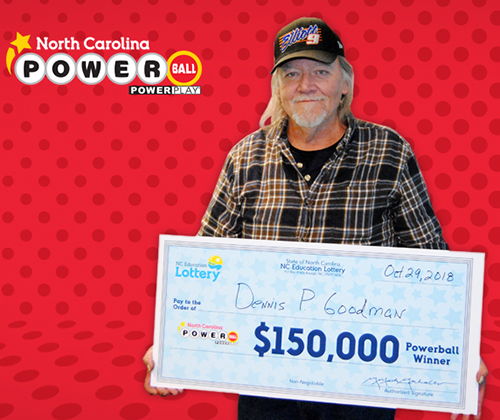 Bad luck became good luck for Dennis Goodman with $150,000 Powerball winner