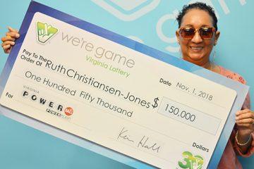 Ruth wins powerball drawing