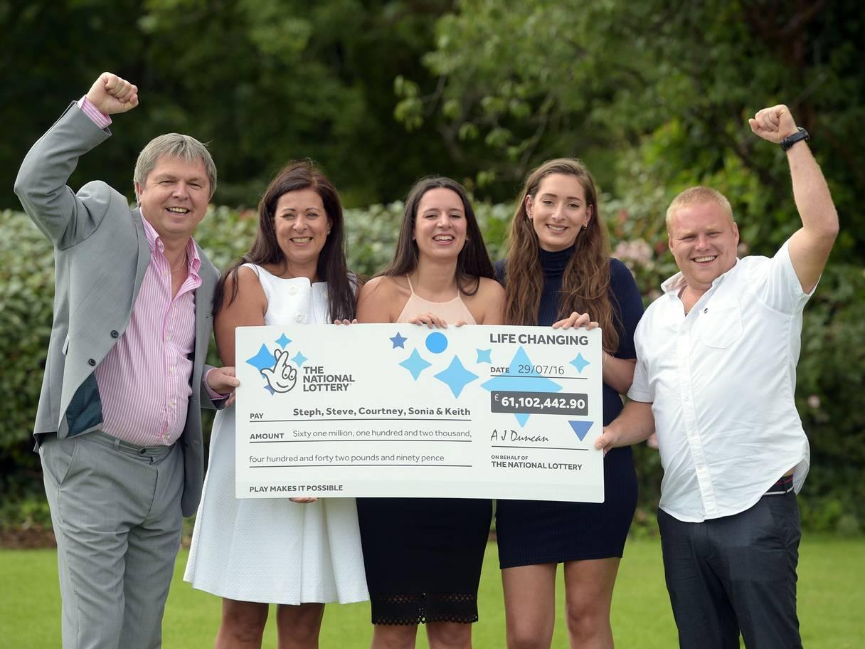 Lucky British family win Euromillions £61 million jackpot